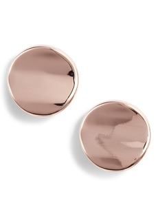 Halogen® Curved Disc Stud Earrings