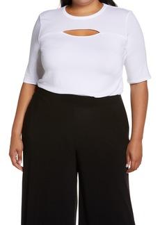 Halogen® Cutout Crewneck T-Shirt (Plus Size)
