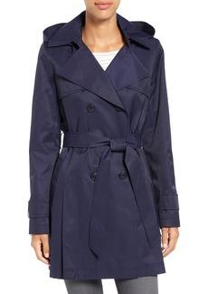 Halogen® Detachable Hood Trench Coat (Regular & Petite)