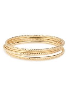 Halogen® Diamond Patterned Set of 5 Bangle Bracelets