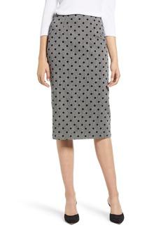 Halogen® Dot Pencil Skirt (Regular & Petite)