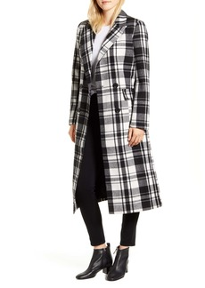 Halogen® Double Breasted Check Coat