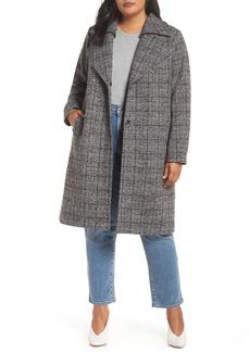 Halogen® Double Fold Collar Coat (Plus Size)