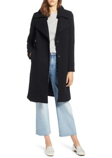 Halogen® Double Fold Collar Wool Blend Coat