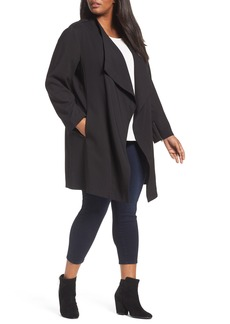 Halogen® Drape Front Jacket (Plus Size)