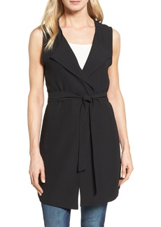 Halogen® Drape Front Long Vest (Regular & Petite)