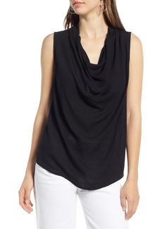 Halogen® Drape Neck Tank Top