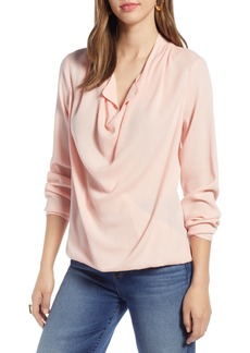 Halogen® Drape Neck Top