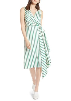 Halogen® Draped Faux Wrap Dress (Regular & Petite)