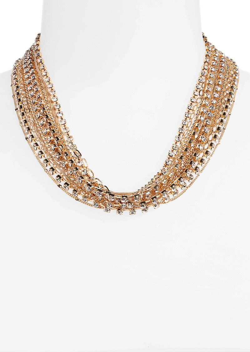 Halogen® Draped Rhinestone Chain Torsade Necklace