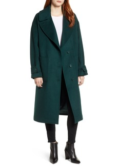 Halogen® Drop Shoulder Wool Blend Coat