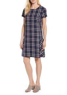Halogen® Drop Waist Plaid Dress (Regular & Petite)