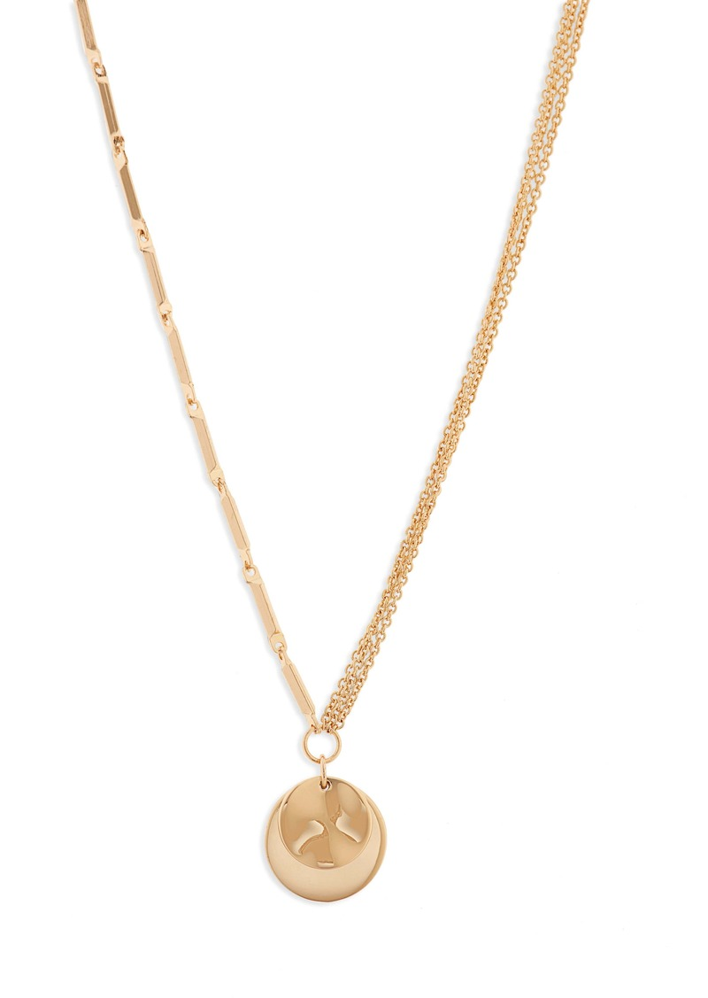 Halogen® Dual Chain Double Pendant Necklace