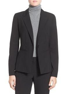 Halogen® 'Ela' One-Button Stretch Suit Jacket (Regular & Petite)