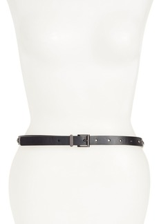 Halogen® Embellished Skinny Leather Belt