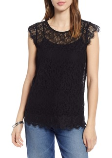 Halogen® Embroidered Lace Top