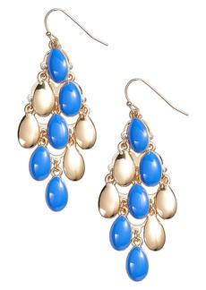 Halogen® Enamel Petal Chandelier Earrings