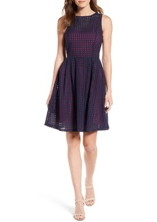 Halogen® Eyelet Fit & Flare Dress (Regular & Petite)