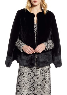 Halogen® Faux Fur Cape