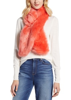 Halogen® Faux Fur Pull Through Scarf