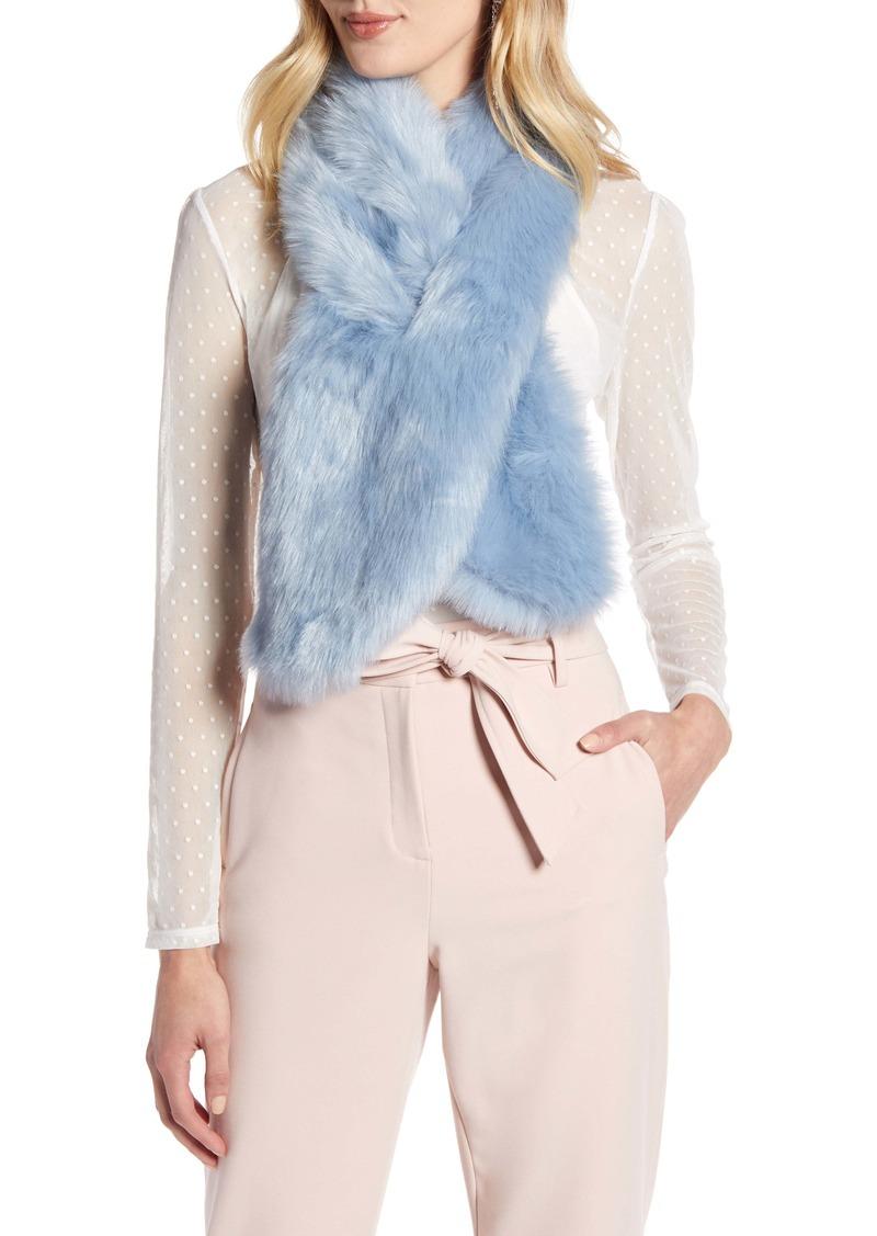 Halogen® Faux Fur Pull Through Scarf