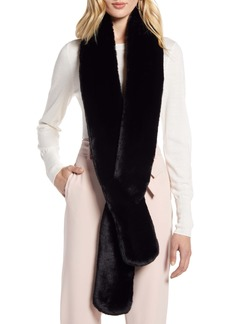 Halogen® Faux Fur Skinny Scarf