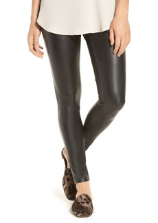 Halogen® Faux Leather Leggings (Regular & Petite)