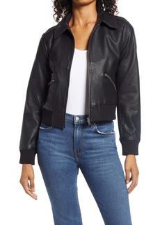 Halogen® Faux Leather Moto Jacket