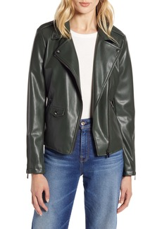 Halogen® Faux Leather Moto Jacket (Regular & Petite)