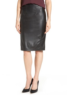 Halogen® Faux Leather Pencil Skirt (Regular & Petite)