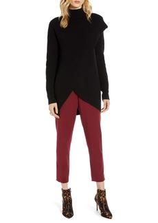 Halogen® Faux Wrap Cashmere Blend Sweater