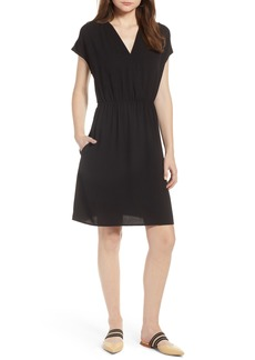Halogen® Faux Wrap Dress (Regular & Petite)