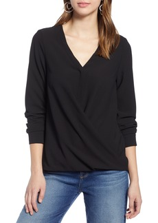Halogen® Faux Wrap Top