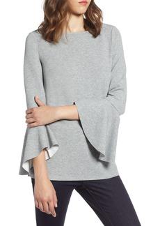Halogen® Flare Sleeve Knit Top (Regular & Petite)