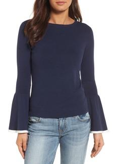 Halogen® Flare Sleeve Sweater (Regular & Petite)