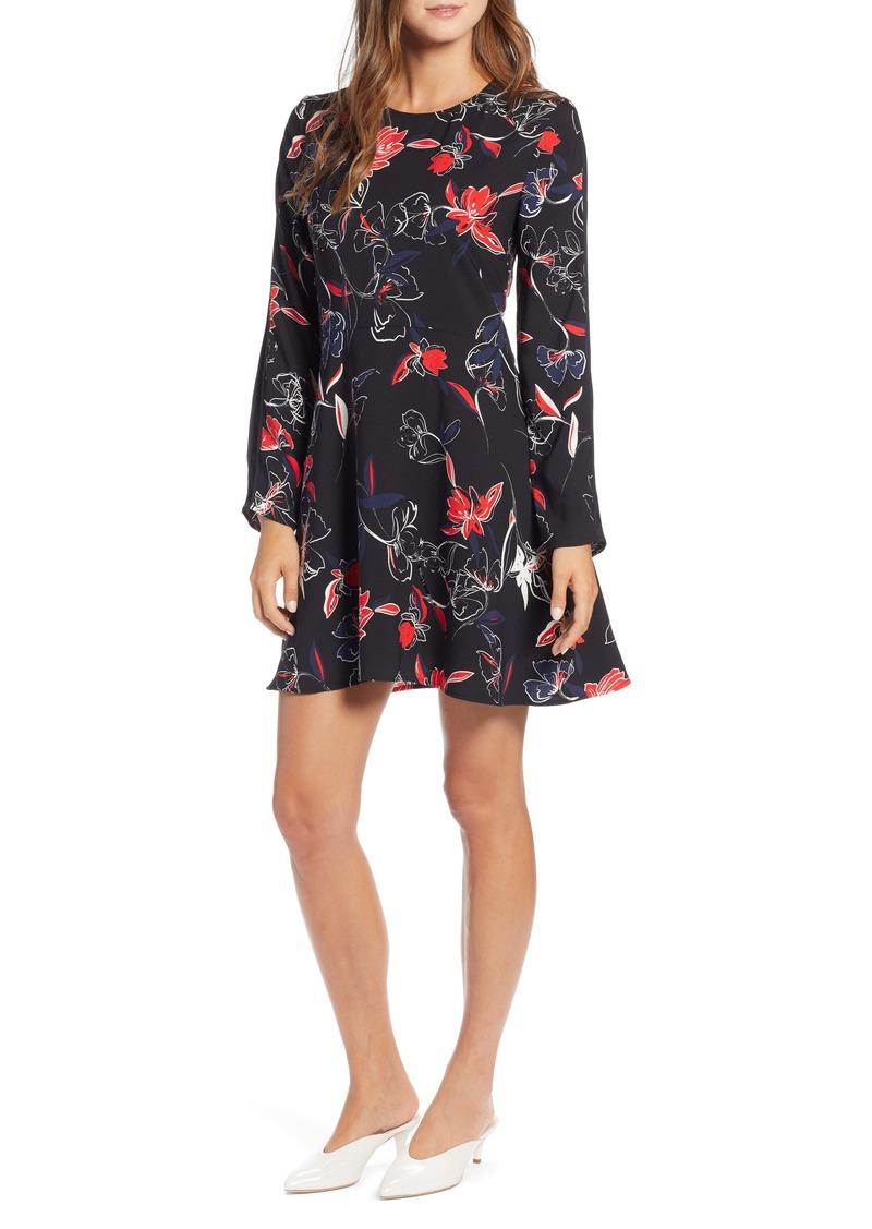 Halogen® Floral Shift Dress (Regular & Petite)
