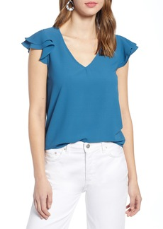 Halogen® Flutter Sleeve Top