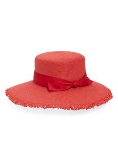 Halogen® Frayed Brim Straw Sun Hat