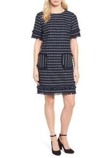 Halogen® Fringe Tweed Dress (Regular & Petite)