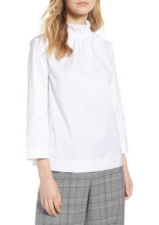Halogen® Gathered Neck Blouse (Regular & Petite)