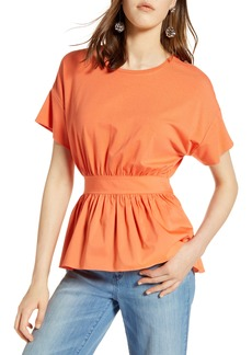 Halogen® Gathered Waist Top (Regular & Petite)