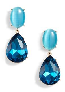 Halogen® Gemstone Statement Double Drop Earrings