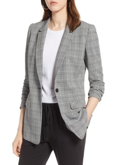 Halogen® Glen Plaid Blazer (Regular & Petite)