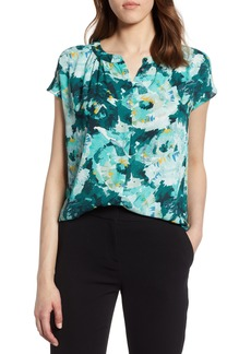 Halogen® Hidden Button Blouse (Regular & Petite)