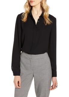 Halogen® Hidden Button Long Sleeve Blouse
