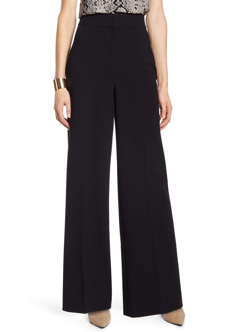 Halogen® High Waist Wide Leg Stretch Twill Pants (Regular & Petite)