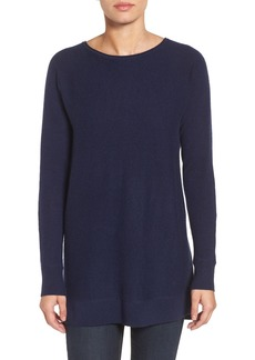 Halogen® High/Low Wool & Cashmere Tunic Sweater (Regular & Petite)