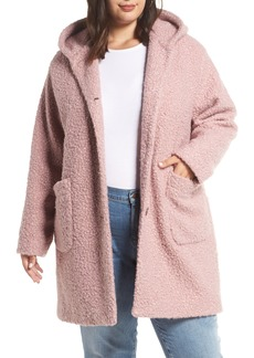 Halogen® Hooded Coat (Plus Size)
