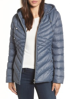 Halogen® Hooded Down Blend Puffer Jacket
