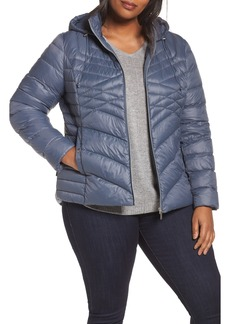 Halogen® Hooded Down Blend Puffer Jacket (Plus Size)
